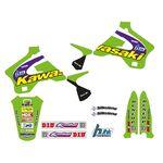 _Tecnosel Decal Kit + Seat Cover Replica Team Kawasaki 1998 KX 125/250 94-98 | 84V02 | Greenland MX_