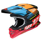 _Shoei Helmet VFX-WR Zinger TC-10   VFXWRZTC100   Greenland MX_