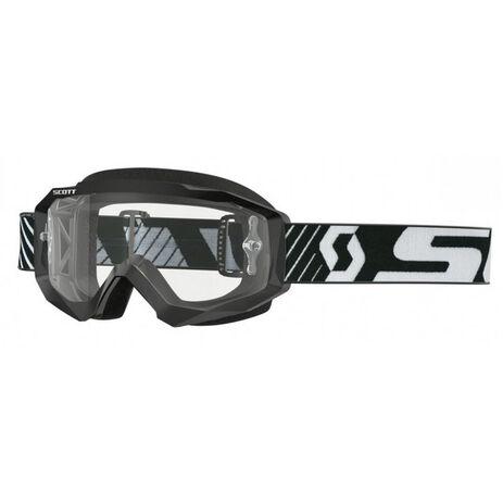 _Scott Hustle MX Clear Works Goggles Black/White | 2625921007113-P | Greenland MX_