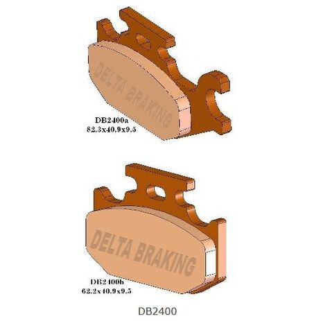 _Pastillas de Freno Delta Traseras Yamaha YFM 450 04-10 (Grizzly, Wolverine, Kodiak) | DB2400 | Greenland MX_