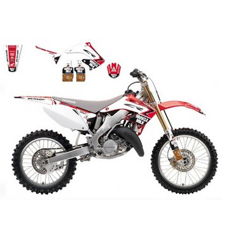 _Kit Adhesivos Blackbird Réplica Muscle Milk TJ 2013 Honda CR 125/250 02-07 | 8136R9 | Greenland MX_