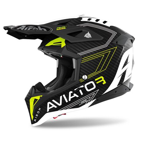 _Casque Airoh Aviator 3 Primal Carbon 3K | AV3P31 | Greenland MX_