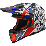 _LS2 MX437J Fast Mini Strong White/Red/Blue Youth Helmet   40437J2626P   Greenland MX_
