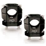 _Bridas Manillar S3 Aluminio 28 mm Negro | HA-CL13-BK | Greenland MX_
