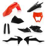 _Acerbis KTM EXC/EXC-F 17-19 Plastic Kit Full Black/Orange   0022371.313-P   Greenland MX_