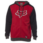 _Fox Destrakt Zip Fleece Jacket Red | 22044-465-P | Greenland MX_