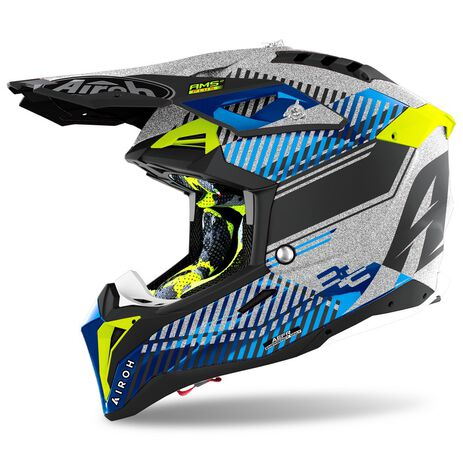 _Casco Airoh Aviator 3 Wave Plata Brillante | AV3W16 | Greenland MX_