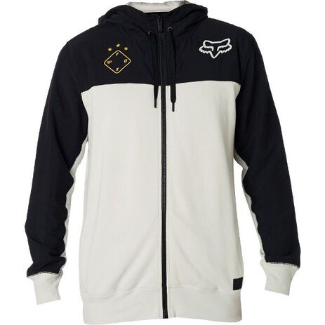 _Fox Axis Zip Fleece White/Black | 21150-097-P | Greenland MX_