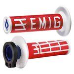 _ODI MX Lock On V2 Emig 2/4 ST Grips Red/White | H36EMRW-P | Greenland MX_