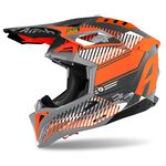 _Casco Airoh Aviator 3 Wave Naranja Brillante | AV3W32 | Greenland MX_