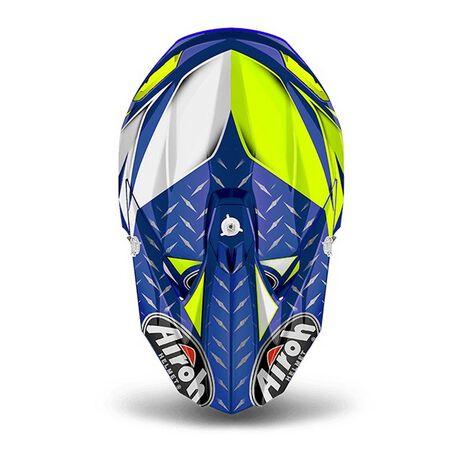 _Airoh Twist Iron Blue Gloss Helmet 2018 | TWIR18 | Greenland MX_