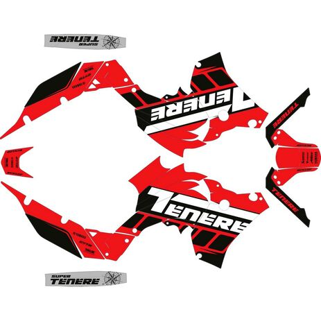 _Yamaha Ténéré 700 19-.. Full Sticker Kit | SK-YTE70019R-P | Greenland MX_