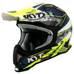 _Casco KYT Strike Eagle Web Negro/Blanco | KYT-YSEA0017 | Greenland MX_