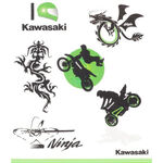 _Kawasaki Kids Tattoo Set | 226SPM0017 | Greenland MX_