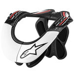 _Alpinestars BNS Pro Neck Support Brace Black/White/Red | 6500114-123-P | Greenland MX_