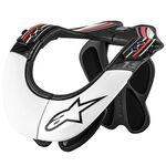 _Alpinestars BNS Pro Neck Support Brace Black/White/Red | 6500114-123-P | Greenland MX_