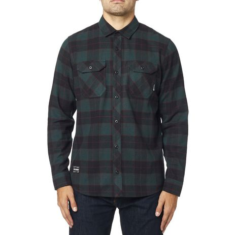 _Fox Traildust Flannel Shirt Emerald | 23826-294 | Greenland MX_