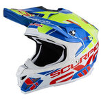 _Scorpion VX-15 Evo Air Argo Helmet Blue/Yellow Fluo | 35-246-202-P | Greenland MX_