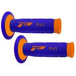 _Pro Grip 791 Dual Grips Blue/Orange Fluo   PGP-791BLOR   Greenland MX_