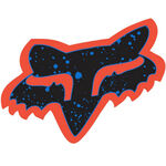 _Fox Logo Splatter Sticker Orange/Blue (44 mm) | 14899-592-OS | Greenland MX_