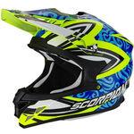 _Scorpion VX-15 Evo Air Revenge Helmet Yellow Fluor/Blue/Black   35-217-180-P   Greenland MX_