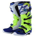 _Troy Lee Designs Alpinestar TECH 7 Boots Yellow Fluo/Blue/White   9391985300   Greenland MX_