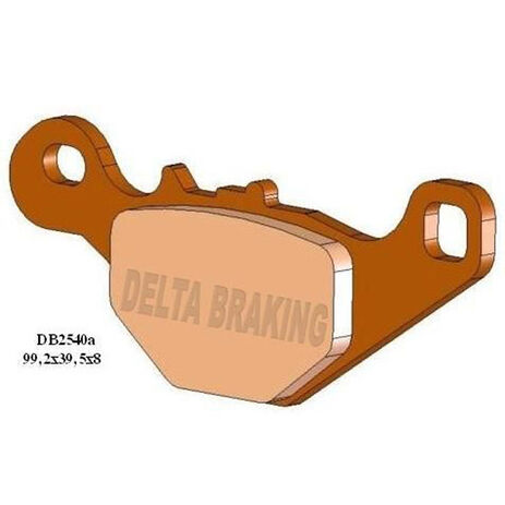 _Pastillas de Freno Delta Traseras Suzuki RM 85 05-13 | DB2540 | Greenland MX_