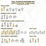 _Ktm Full Plastics Fastener Kits SX 11-13 EXC 12-13 | BO-KTM112SXC1 | Greenland MX_