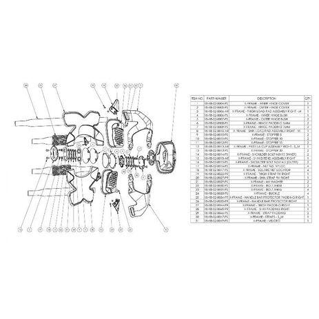 _Leatt X-Frame Knee Guard | LB5018010100P | Greenland MX_