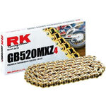 _Cadena RK 520 MXZ4 Super Reforzada 120 Pasos Oro | HB752033120G | Greenland MX_