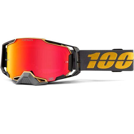 _100% Armega Genesis Hiper Falcon 5 Goggles Red Mirror | 50720-357 | Greenland MX_