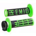 _Puños ODI MX Lock On V2 Emig 2T Negro/Verde | H32EMBN | Greenland MX_