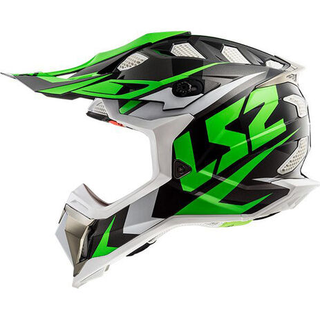 _LS2 MX470 Subverter Nimble Helmet Black/Green | 404702060P | Greenland MX_