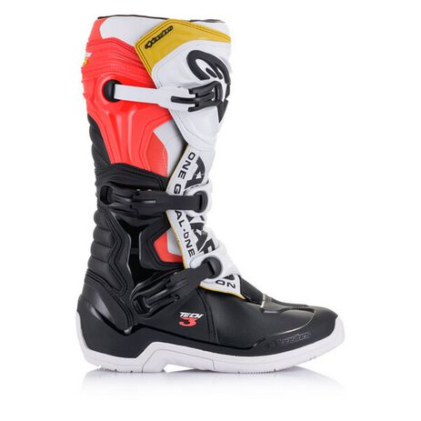 _Alpinestars Tech 3 Boots Black/White/Red/Yello Fluo | 2013018-1238-P | Greenland MX_