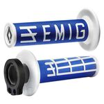_ODI MX Lock On V2 Emig 2/4 ST Grips Blue/White | H36EMUW-P | Greenland MX_