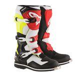 _Alpinestars Tech 1 Boots Black/White/Yellow Fluor/Red | 2016016-1053 | Greenland MX_