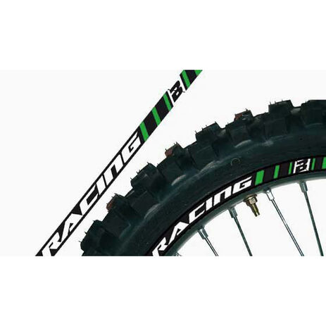 _Blackbird Rim Stickers Kit Green | 5081-30 | Greenland MX_