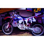 _Tecnosel Decal Kit + Seat Cover Replica Team Honda Maddii 1995 CR 125 95-97 250 95-96 | 81V07 | Greenland MX_