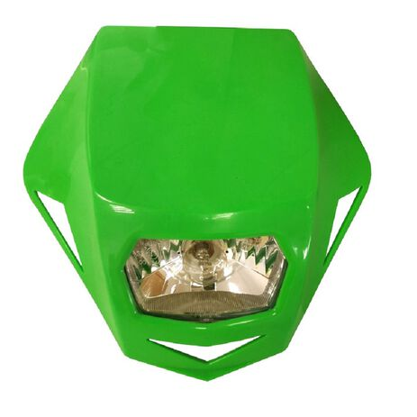 _Race Tech Headlight Genesis Green   R-MASKVF000   Greenland MX_