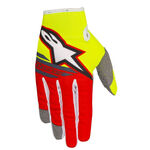 _Alpinestars Radar Flight Gloves Yellow Fluo/Red | 3561818-539-P | Greenland MX_