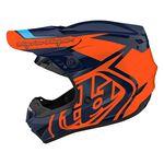 _ Troy Lee Designs GP Overload Helmet Navy/Orange | 103252011-P | Greenland MX_