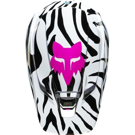 _Fox V3 Zebra Limited Edition Helmet | 23659-559 | Greenland MX_