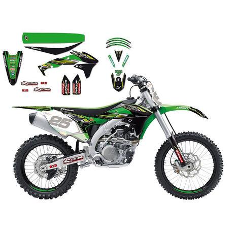 _Kit Adhesivos Completo Réplica Kawasaki Racing Team 2017 Blackbird Kawasaki KX 450 F16-18 | 8423R9 | Greenland MX_