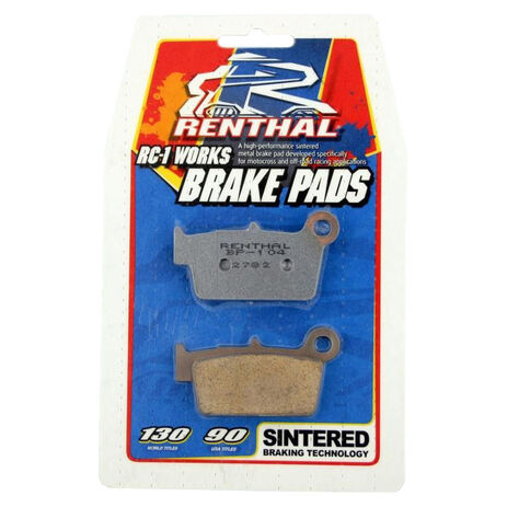 _Renthal Front Brake Pads cr 85 03-07 cr 150 07-09 Rear kx 80-100 97-07 kx 85 01-09 | BP-102 | Greenland MX_