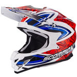 _Scorpion VX-15 Evo Air Revenge Helmet White/Red/Blue | 35-217-125-P | Greenland MX_