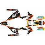 _KTM EXC/EXC-F 20 Full Sticker Kit Replica Cairoli | SK-KTEXC20RCA-P | Greenland MX_