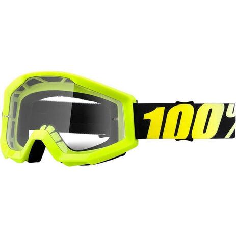 _100% Strata Neon Goggles Yellow Fluor | 50400-004-02 | Greenland MX_