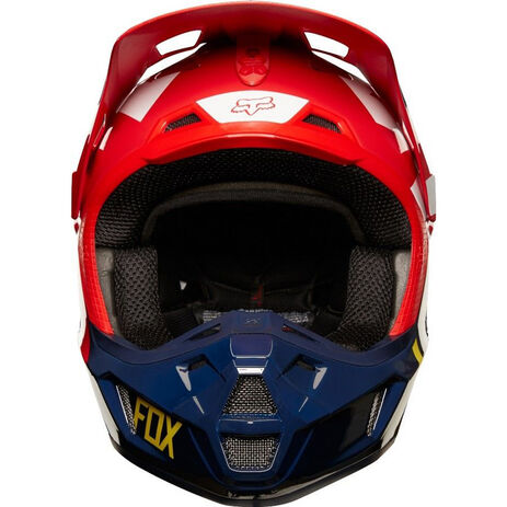 _Fox V2 Preme Helmet Navy/Red | 19528-248-P | Greenland MX_