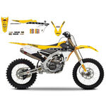 _Blackbird Replica Team Factory Racing Yamaha YZ 250/450 F 14-16 WR 250 F 15-16 Seat Cover + Decal Kit | 8243R5SE | Greenland MX_
