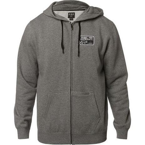 _Fox  Pro Circuit Zip Fleece Grey | 23058-185 | Greenland MX_